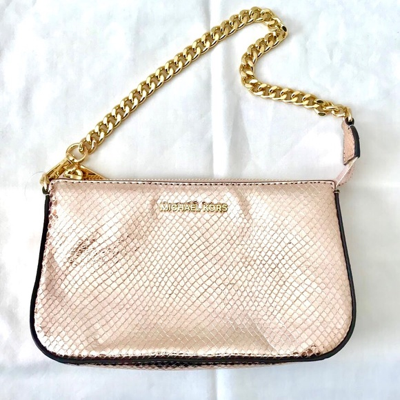 fd8f38737e7f SALE!! Michael Kor l Pink Embossed Leather Handbag